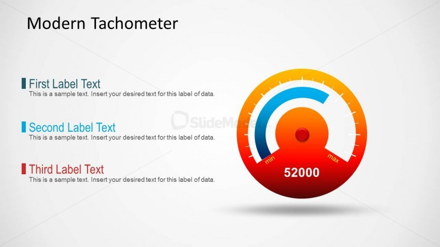Tachometer Gauge Slide for PowerPoint
