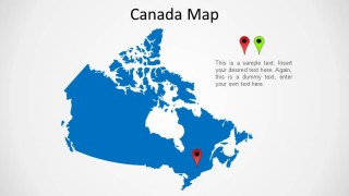 Political outline PowerPoint Map of Canada