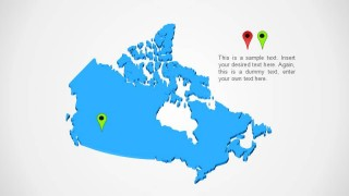 Canada Map PPT Template Design