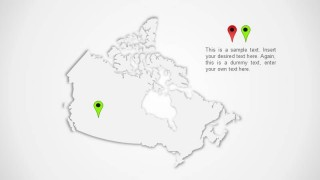 Canada Map Outline Design for PowerPoint