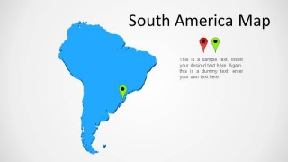 3D South America Map for PowerPoint
