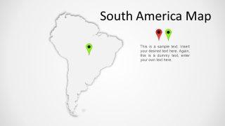 South America Transparent Map