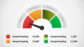 4 Step Editable Level Meter PowerPoint Diagram
