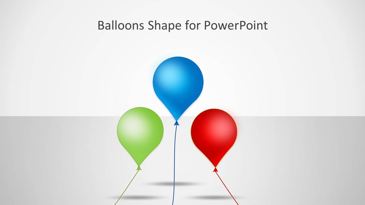 Balloons shape for powerpoint slidemodel for What can you make with balloons