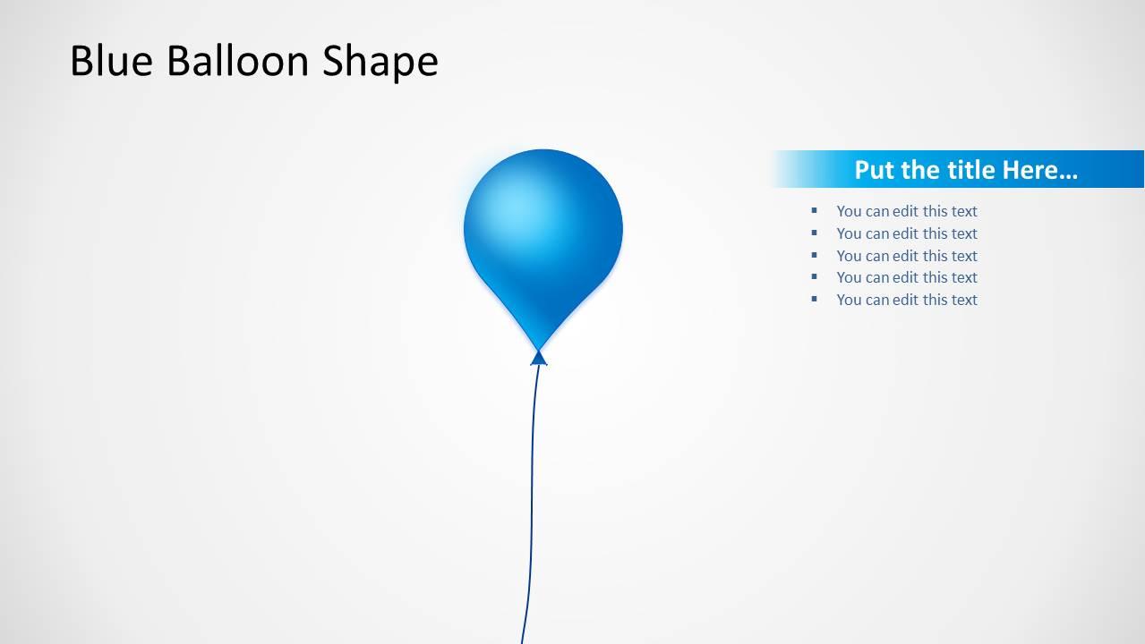 Blue Balloon Shape Design for PowerPoint