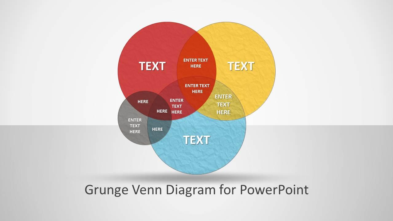 powerpoint venn diagram intersection color grunge venn diagram for powerpoint slidemodel