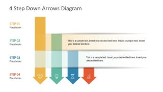 4 Step Down Arrows PowerPoint Template