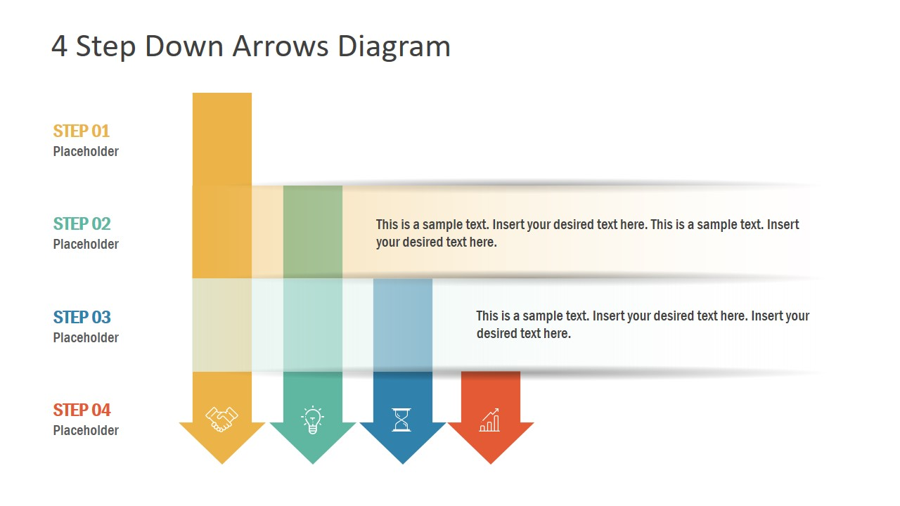 Arrow Shape Bar Chart PowerPoint