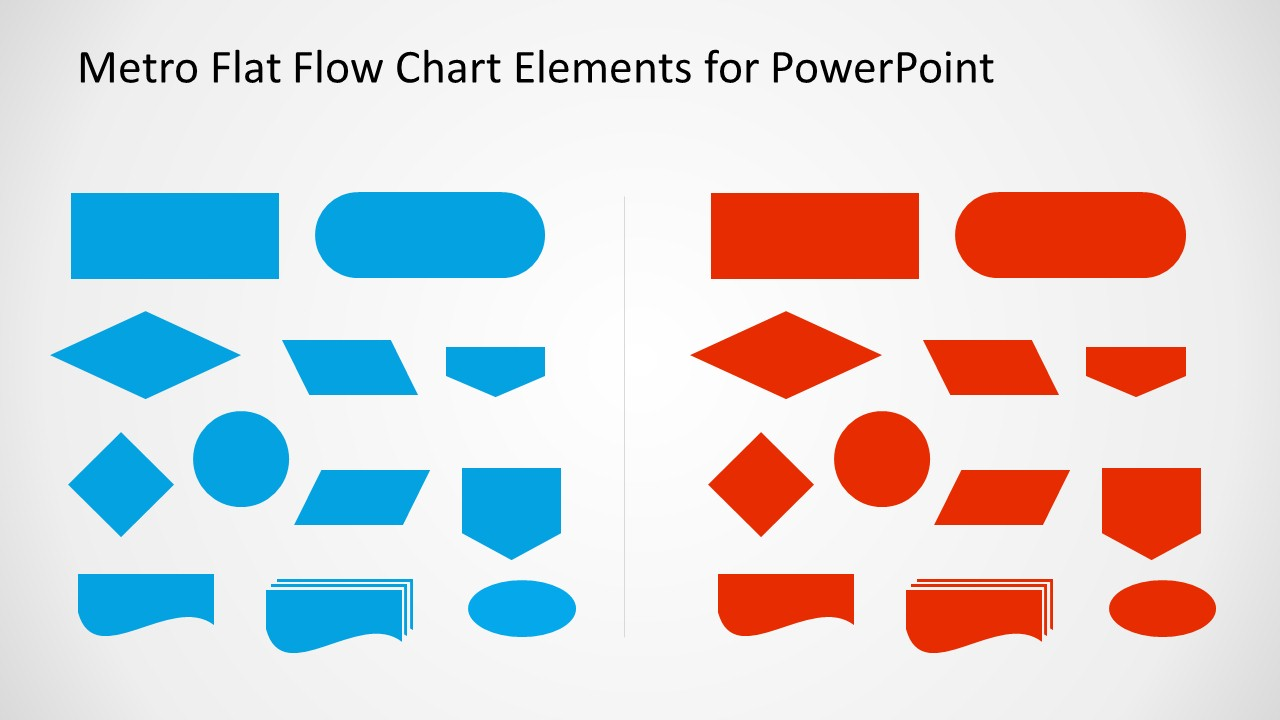 Metro Flat Flow Chart Slide Design for PowerPoint