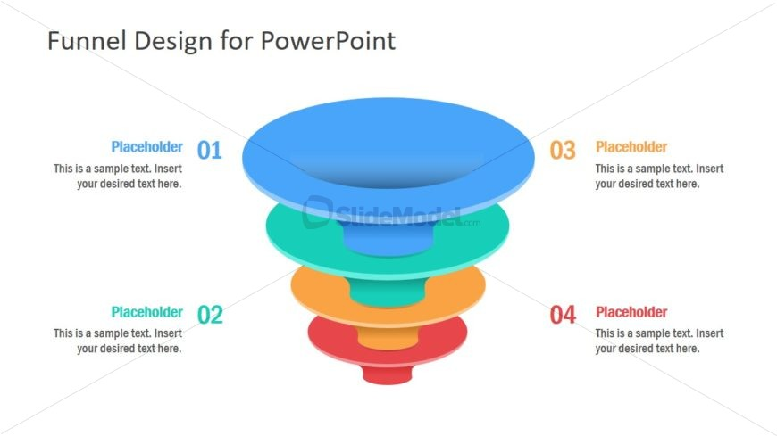 Funnel Shapes for Business DIagram