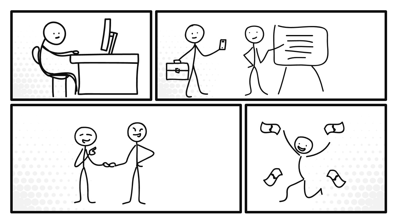 Comic Stick Figure Illustration