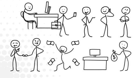 Business Stick Figures PowerPoint