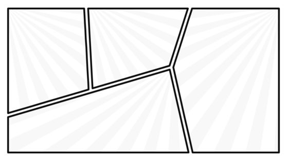 PowerPoint Comic Black and White Layout