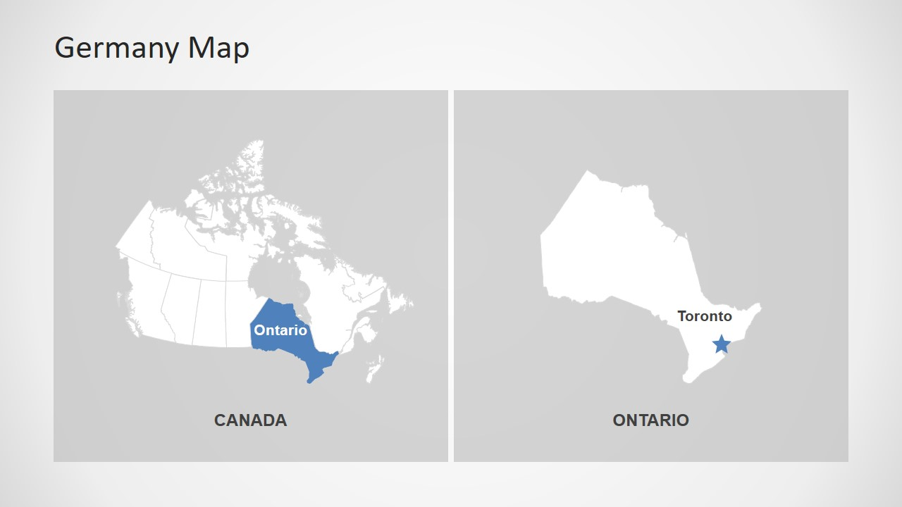 Creative Map template for Canada