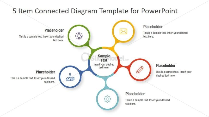Circular Connected Diagram Template