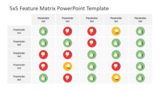 5×5 Feature Matrix PowerPoint Template