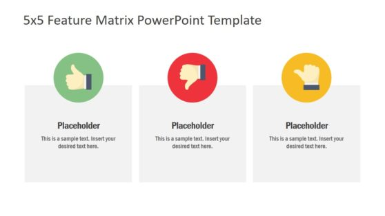 5 Steps Feature Matrix PowerPoint