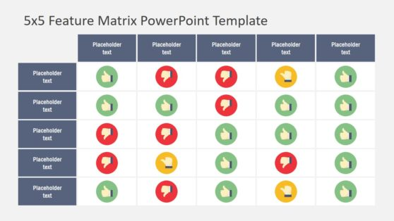 Feature Matrix 5X5 Template Design
