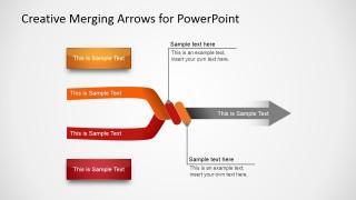Slide with 2 Arrows Converging in 1 Final Arrow