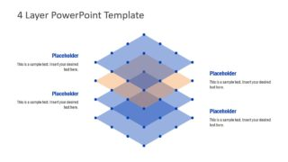 Flat Stacked Diagram Template