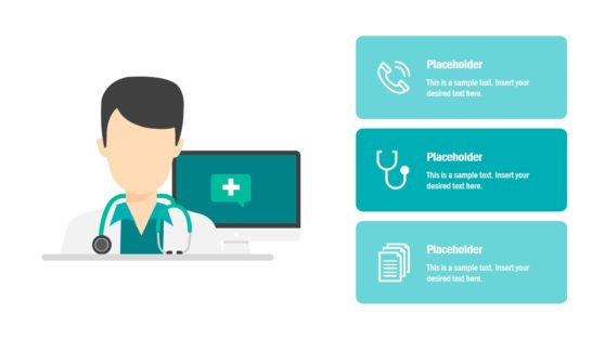Healthcare Technology Doctor Illustration PPT