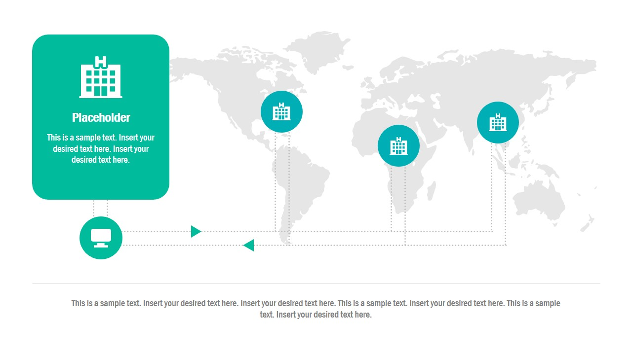 Infographic PowerPoint Layout with Map