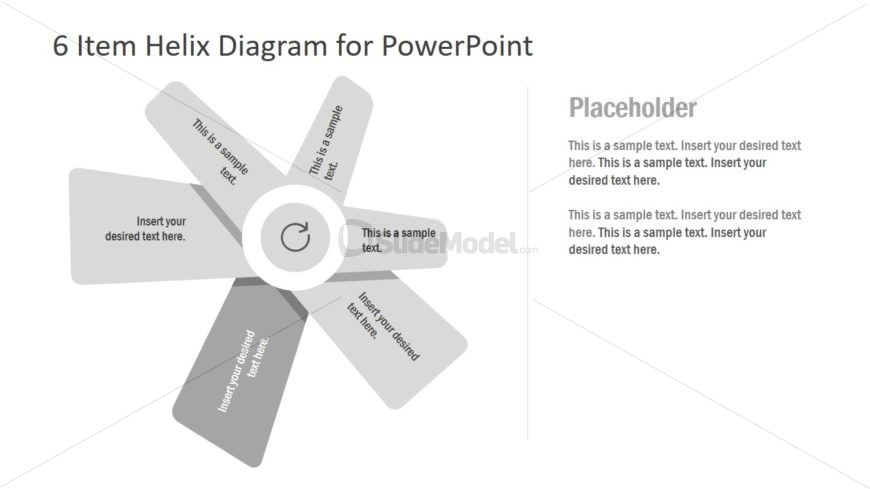 PPT Helix Diagram in Fan Shape