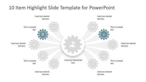 Gear Shape PowerPoint Diagram