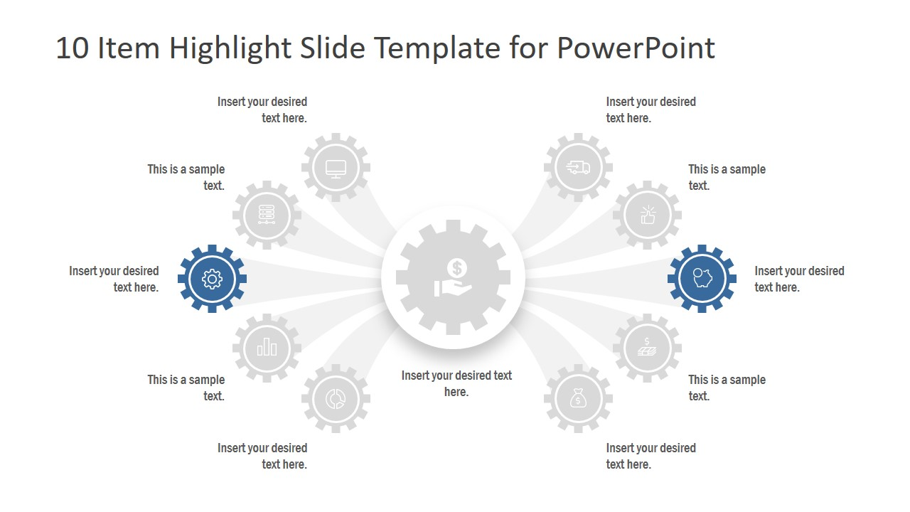 10 Item Highlight Slide Design