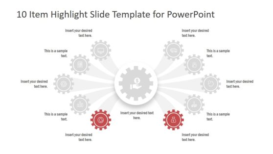 10 Items Highlight Template PPT