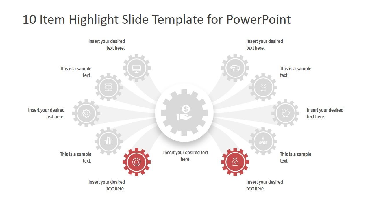 PowerPoint Gear Shape Comparison