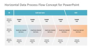 In-Out Horizontal Data Process PowerPoint Diagram