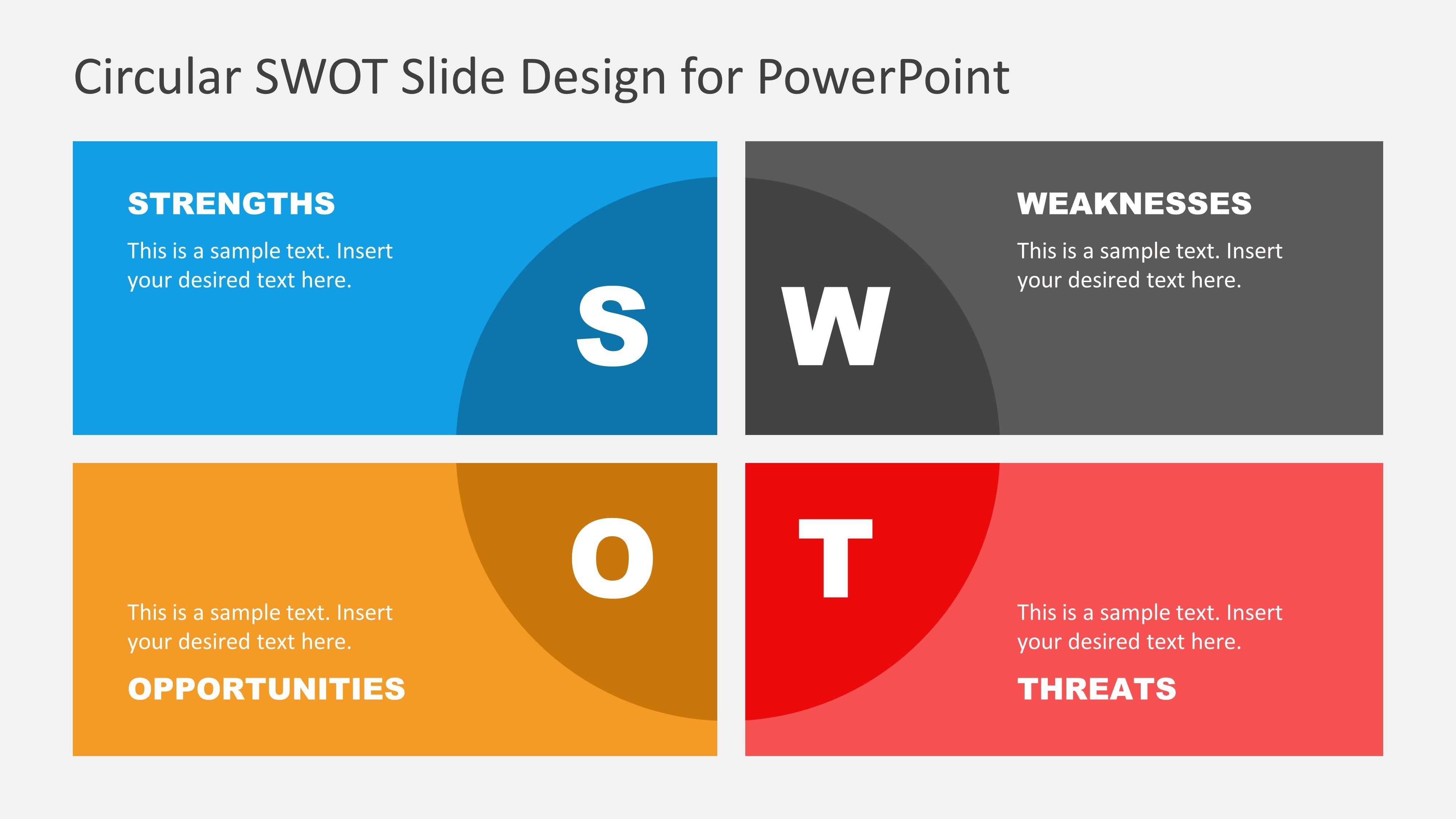 SWOT Presentation Template Design
