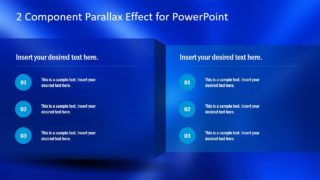 2 Component Parallax Effect PowerPoint Template