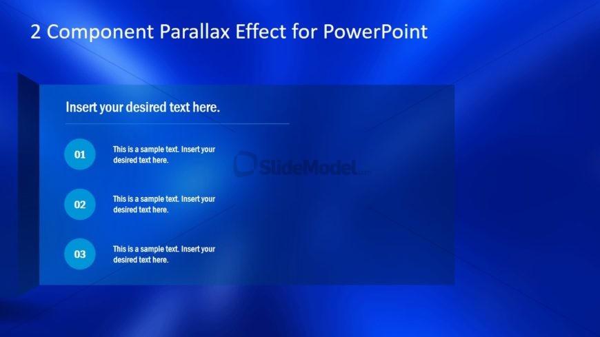 Slide Effect of Parallax Template