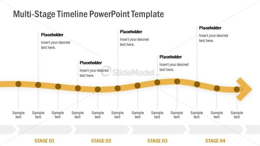 Template of Arrow Timeline
