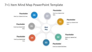 7+1 Item MindMap PowerPoint Template
