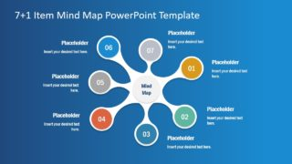 7 Items MindMap PowerPoint
