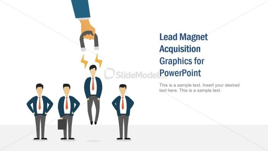 PPT Lead Magnet Cartoon Illustration