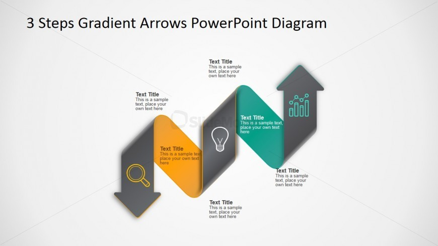 PowerPoint Template 3 Arrows Diagam Horizontal Layout