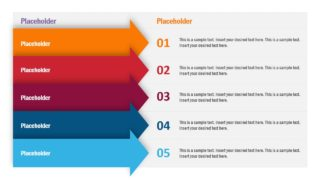 5 Arrows Concept Table PowerPoint Template