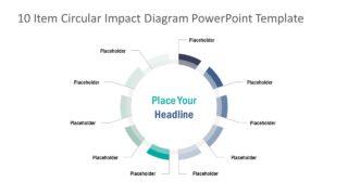 10 Item Circular Impact Diagram for PowerPoint