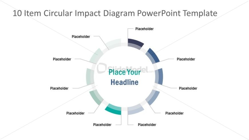 Presentation of 10 Items Circular Diagram