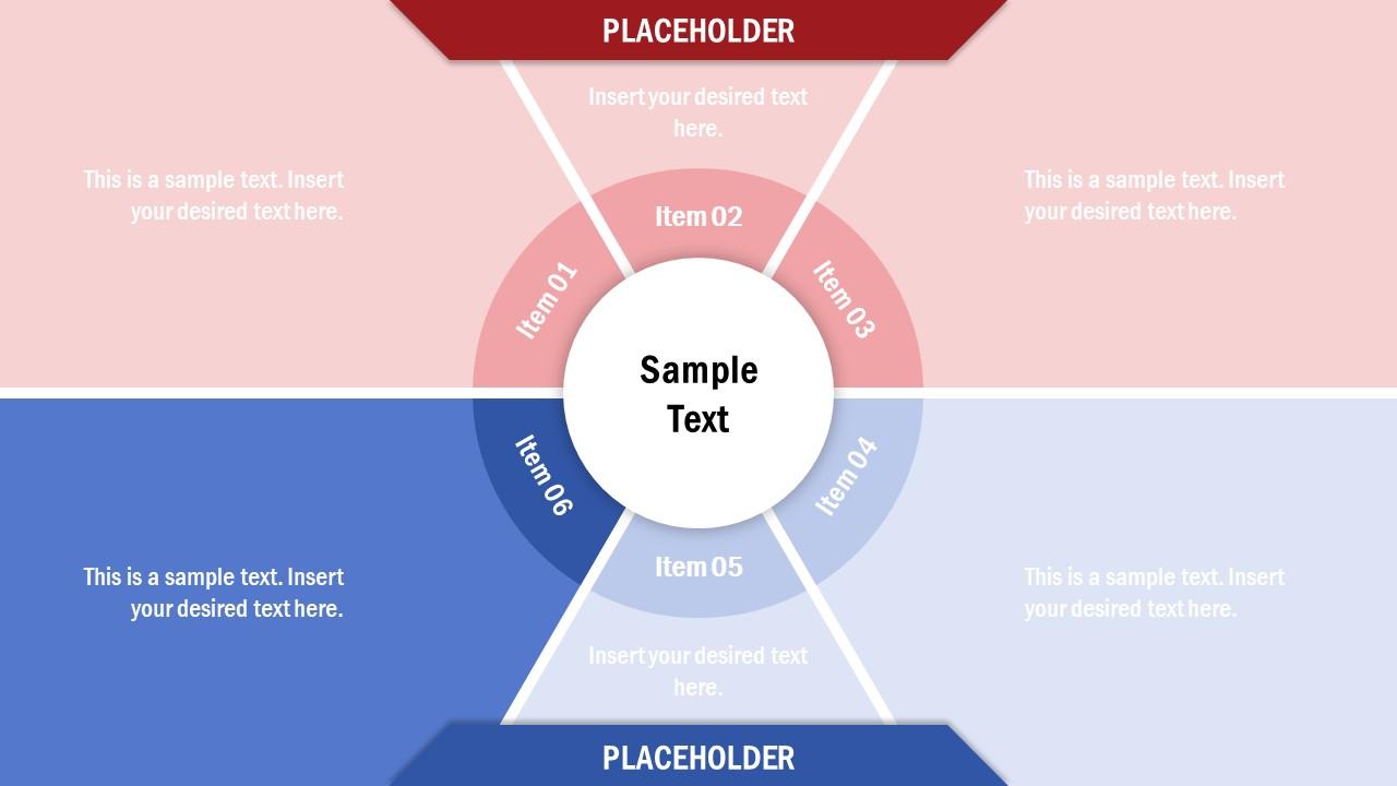 Diagram of 6 Items in Circular Diagram