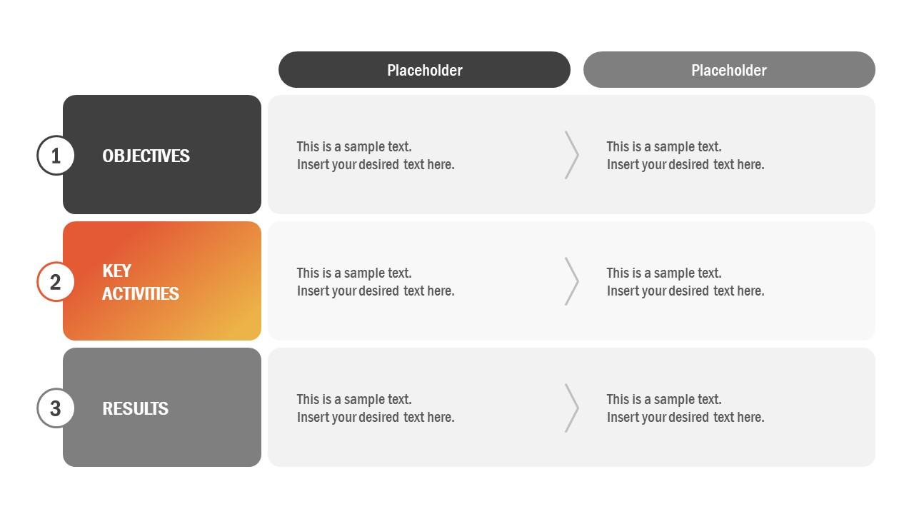 Flat PowerPoint of OKR