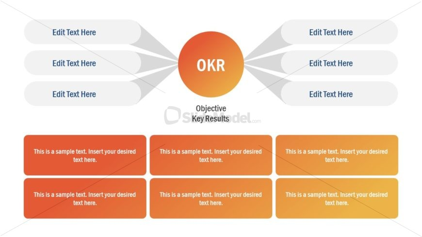 Infogrpahic OKR Diagram Template