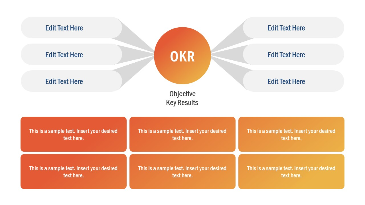 Infogrpahic OKR Diagram Template
