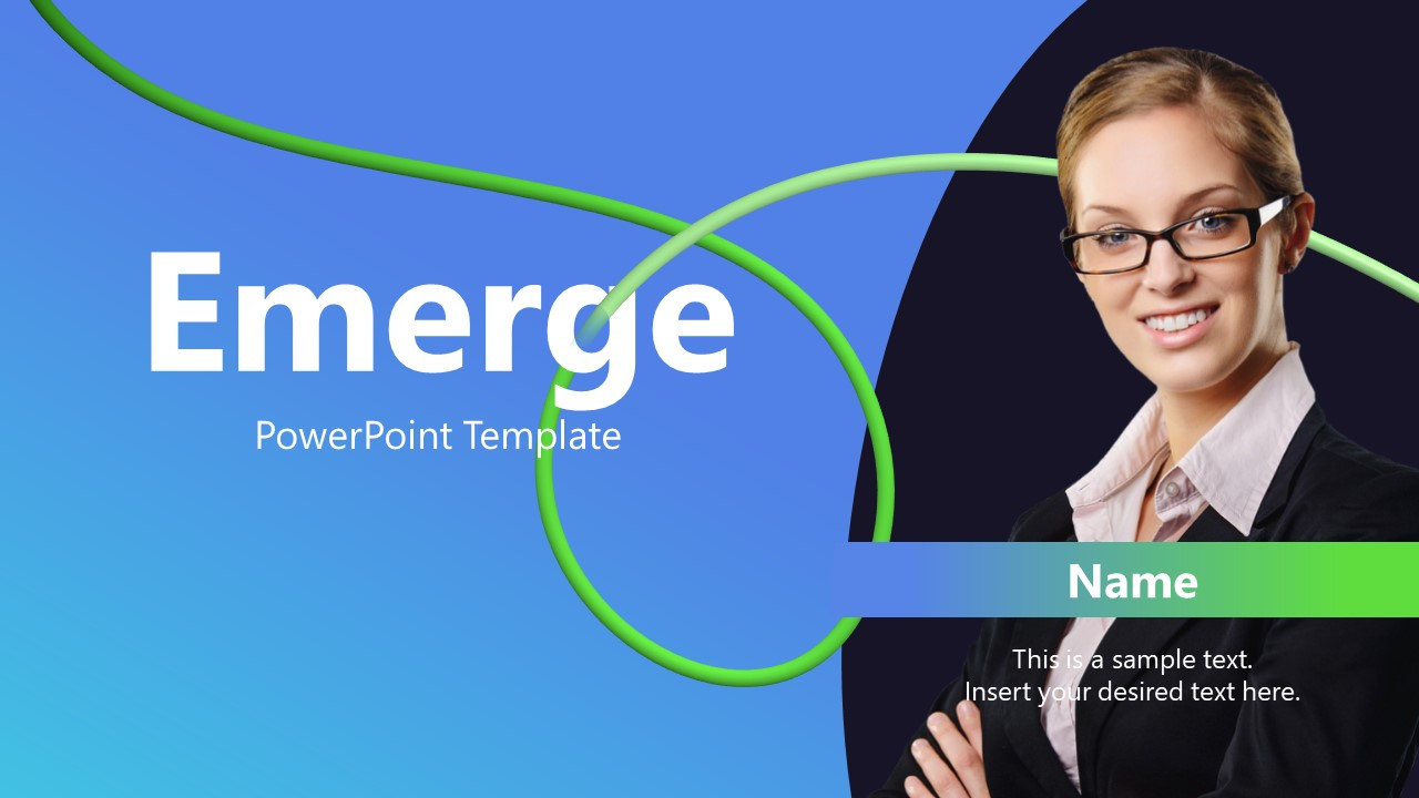 Cover Slide of Emerge PowerPoint