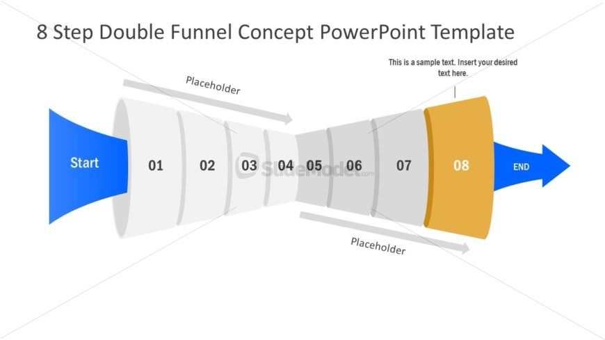 Funnel Diagram of 8 Step PPT