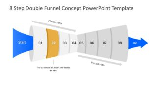 Funnel Diagram of 2 Step PPT